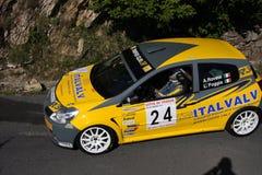 Автомобиль ралли Renault Clio Стоковое Фото