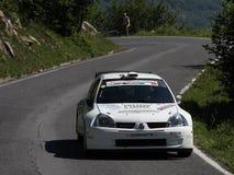 Автомобиль ралли Renault Clio Стоковые Изображения