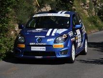 Автомобиль ралли Renault Twingo Стоковые Изображения