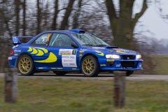 Автомобиль ралли Subaru Стоковое Изображение RF