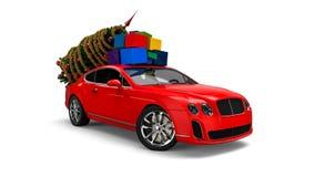 Автомобиль рождества бесплатная иллюстрация