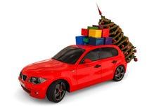 Автомобиль Санты иллюстрация штока