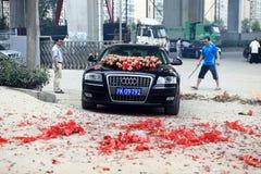 Автомобиль свадьбы Audi Стоковые Изображения RF