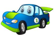 Автомобиль сини спорта шаржа Стоковое Изображение
