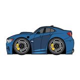 Автомобиль сини шаржа вектора Стоковые Фотографии RF