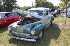 Автомобиль 1941 сини Aqua посола Nash Стоковые Фото
