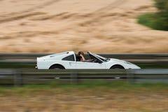 Автомобиль спорт в движении Стоковое Фото
