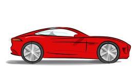 Автомобиль спорт с холеным иллюстрация штока