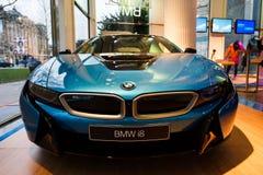 Автомобиль спорт BMW i8 гибридный Стоковое Изображение RF