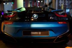 Автомобиль спорт BMW i8 гибридный Стоковые Изображения