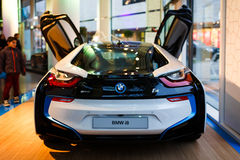 Автомобиль спорт BMW i8 гибридный Стоковое Фото