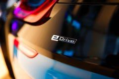 Автомобиль спорт BMW i8 гибридный Стоковая Фотография