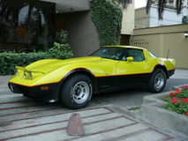 Автомобиль спорт Chevrolet Corvette в Сан Isidro, Лиме стоковое изображение