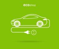Автомобиль стиля Eco иллюстрация штока