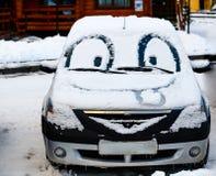 Автомобиль с глазами и большой улыбкой Стоковые Фотографии RF