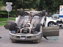 Автомобиль слегка ударенный сверх Стоковые Фотографии RF