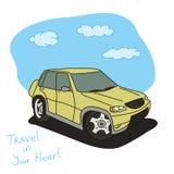 автомобиль с дороги Стоковые Изображения