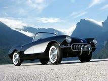 автомобиль с откидным верхом Корвета 1957 классик Стоковые Фотографии RF