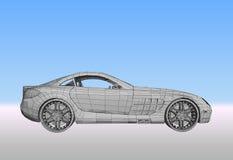 Автомобиль с решеткой. Вектор Стоковое Изображение