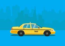 Автомобиль такси Плоская введенная в моду иллюстрация Стоковое Изображение RF