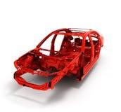 Автомобиль тела красного цвета задний без иллюстрации колеса 3d Стоковое Изображение