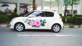 Автомобиль художника мини Стоковые Фото