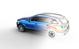 Автомобиль чертежа эскиза Стоковая Фотография