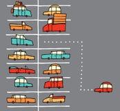 Пятно стоянкы автомобилей шаржа вектора Стоковые Изображения RF
