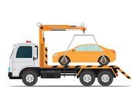 Автомобиль эвакуатора для транспорта иллюстрация штока