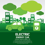 Автомобиль электрической энергии Стоковые Изображения