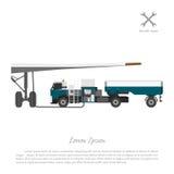 Автомобиль для дозаправляя топлива воздушных судн Ремонт и обслуживание Стоковые Изображения