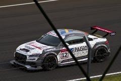 Автомобиль Audi DTM в гонке стоковые изображения