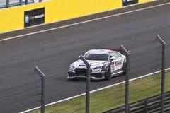 Автомобиль Audi DTM в гонке стоковая фотография