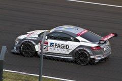 Автомобиль Audi DTM в гонке стоковое фото rf