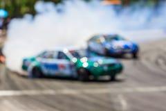 Автомобиль Blurred перемещаясь на следе Стоковая Фотография RF