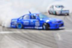 Автомобиль Blurred перемещаясь на следе Стоковое Изображение RF