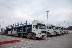 Автомобиль Co Changan Форда , поле перехода корабля 2 автомобилей фабрики Стоковые Изображения RF