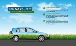 Автомобиль Eco на предпосылке природы иллюстрация штока