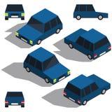 Автомобиль isometry Низкий детализируя равновеликий взгляд автомобилей Стоковое Фото