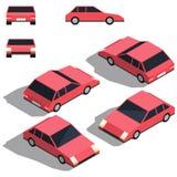 Автомобиль isometry Низкий детализируя равновеликий взгляд автомобилей Стоковые Фотографии RF