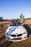 Автомобиль Shongweni Hillcrest рекламодателя игроков Южной Африки поло Стоковое Изображение