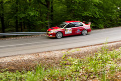 Автомобиль Szekesfehervar Венгрия ралли Стоковое фото RF