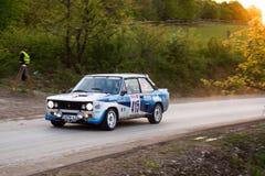 Автомобиль Szekesfehervar Венгрия ралли Стоковые Изображения RF