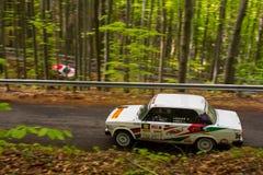 Автомобиль Szekesfehervar Венгрия ралли Стоковые Фотографии RF