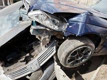 2 автомобиля во время дорожного происшествия Стоковое Изображение RF