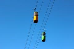 2 автомобиля кабел-крана Стоковые Фотографии RF