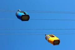 2 автомобиля кабел-крана Стоковое Изображение