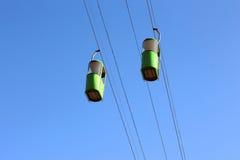 2 автомобиля кабел-крана Стоковая Фотография