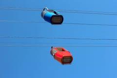 2 автомобиля кабел-крана Стоковые Изображения RF