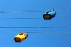 2 автомобиля кабел-крана Стоковые Изображения